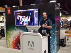Presenting how to recover a bad photo at the Adobe booth. Photo: James Conway.