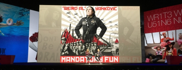Oh yeah. Weird Al Yankovic showed up to talk about his work.