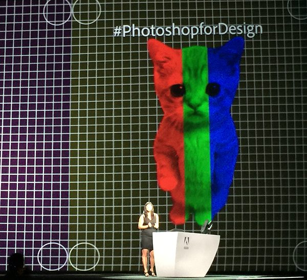 PM Zorana Gee shows off Photoshop Design.