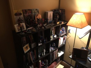 Some of my books and collectibles.